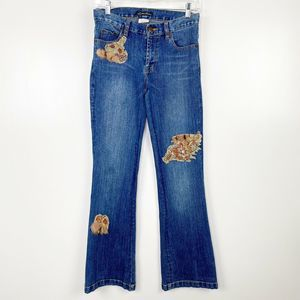 Lillie Rubin Vintage Jeans Fur Embroidered Beaded
